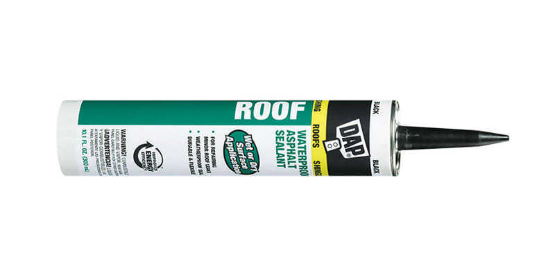 DAP  Low Luster  Black  Asphalt  Roof Sealant  10.1 oz.