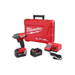 Milwaukee  M18 FUEL  18 volt 3/8 in. Cordless  Brushless  Impact Wrench  Kit (Battery & Charger)