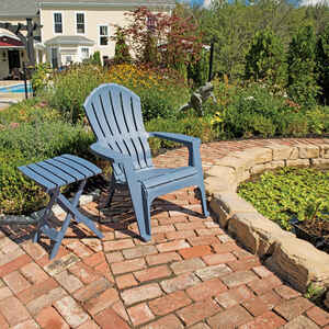 Adams  RealComfort  Bluestone  Polypropylene  Adirondack Chair