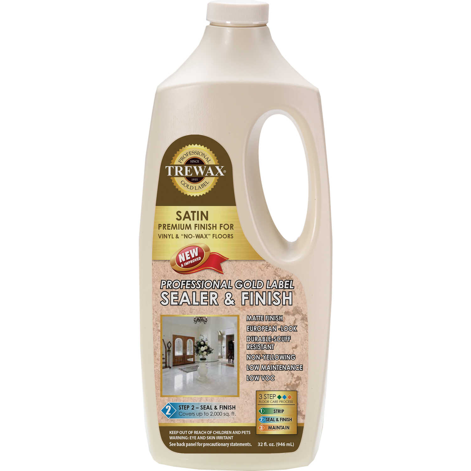 Trewax  Gold Label  Satin  Sealer Wax  Liquid  32 oz.