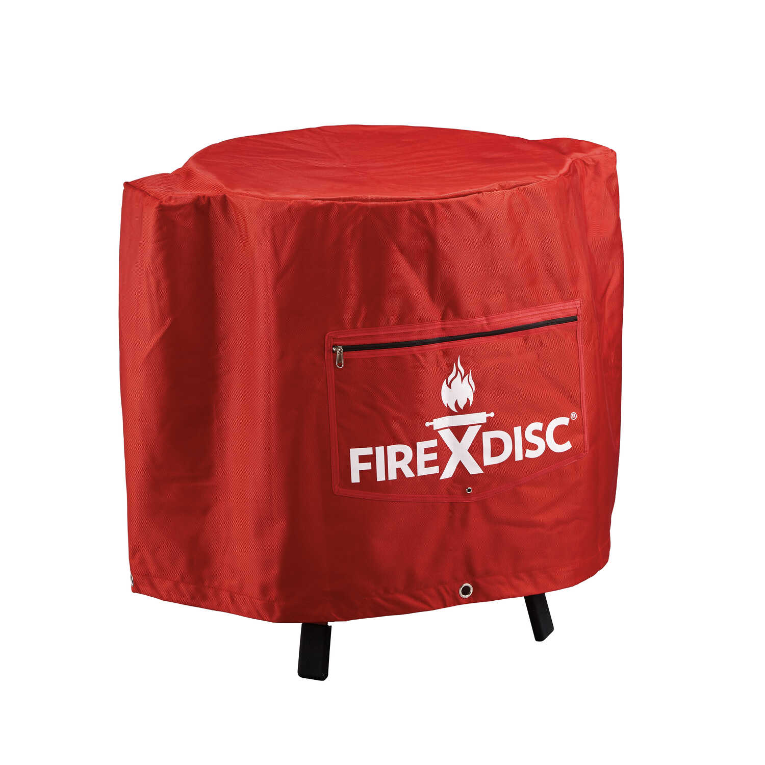 FireDisc  Red  Grill Cover  22 in. W x 22 in. D x 24 in. H For Fits FireDisc Grills