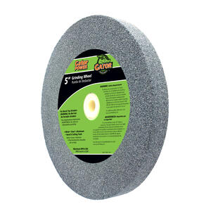 Gator  5 in. Dia. x 3/4 in. thick  x 1 in.   Aluminum Oxide  Grinding Wheel  4965 rpm 1 pc.