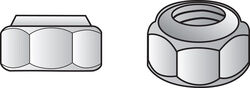 Hillman  1/4 in. Zinc-Plated  Steel  SAE  Nylon Lock Nut  100 pk
