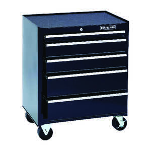 Craftsman  26 in. 32-1/2 in. H x 18 in. D Rolling Tool Cabinet  Black  Steel  5 drawer