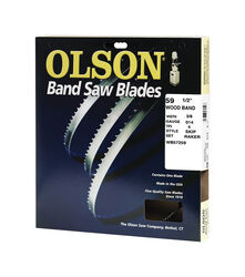 Olson 59.5 in. L x 0.4 in. W x 0.01 in. thick Carbon Steel Band Saw Blade 4 TPI Skip teeth 1 pk