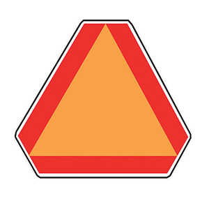 Hy-Ko  English  Slow Moving Vehicle  14 in. H x 16 in. W Aluminum  Sign