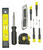 Steel Grip  Tool Kit  Black/Yellow  8 pc.