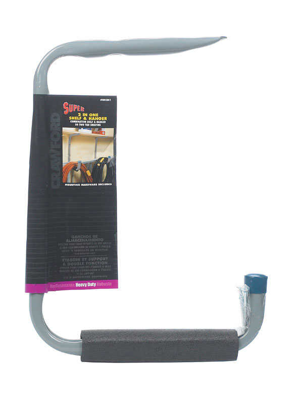 Crawford  Gray  Steel  Hanger Holder  50 lb. capacity 1 pk
