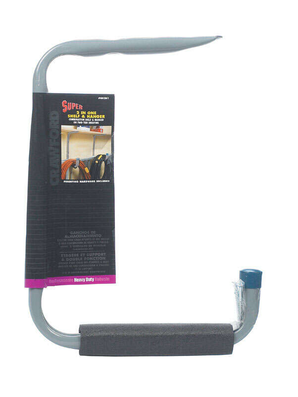 Crawford  12 in. D Hanger Holder  Gray  50 lb. capacity 1 pk Steel