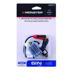 Monster Cable  Just Hook It Up  Adapter  1 pk