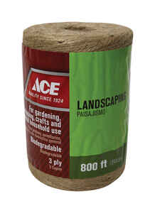 Ace  800 ft. L Natural  Braided  Jute  Twine