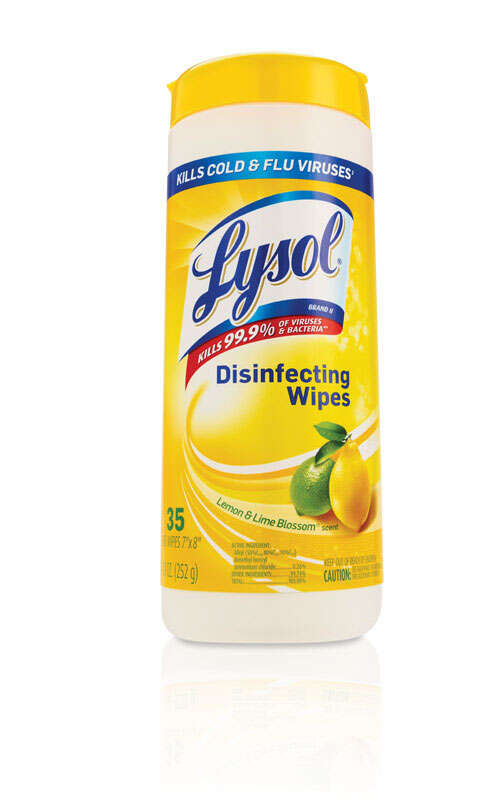 Lysol  Lemon & Lime Blossom Scent Antibacterial Wipes  35 pk Wipes