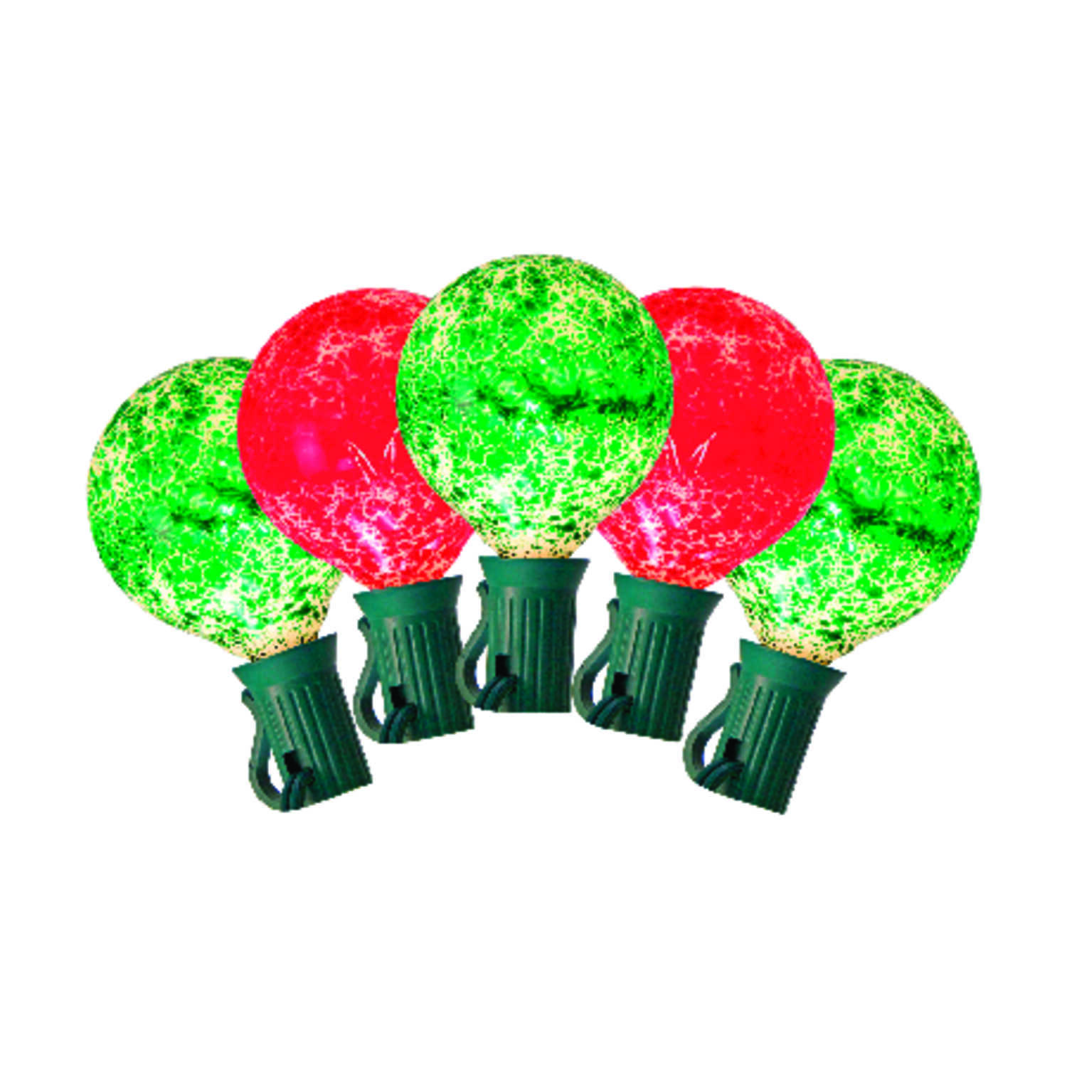 Celebrations  G50  LED  Light Set  Green/Red  9  10 lights