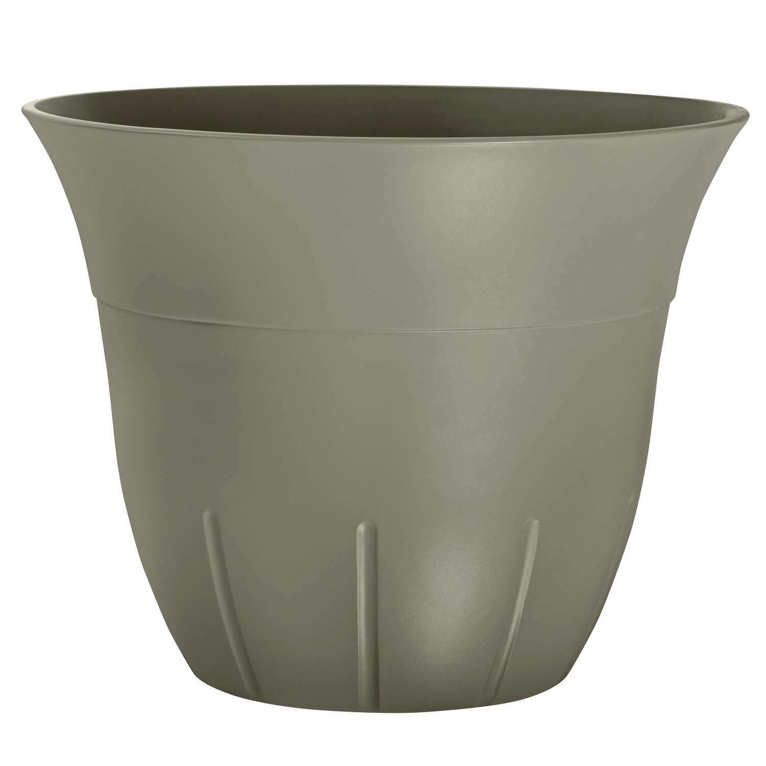 Suncast  Belliveau  16 in. W Resin  Planter  Brown