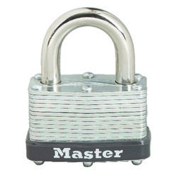 Master Lock  1-1/16 in. H x 1 in. W x 1-3/4 in. L Laminated Steel  Warded Locking  Padlock  1 pk