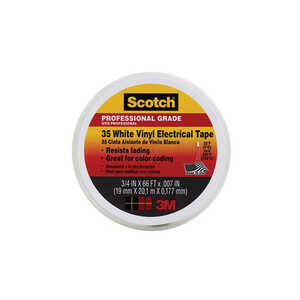 Scotch  3/4 in. W x 66 ft. L White  Vinyl  Electrical Tape