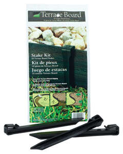 Master Mark  Terrace Board  3 in. H x 40 ft. L Stake Kit  Black  Plastic