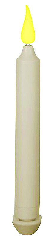 Xodus Innovations  None Scent Ivory  Taper  Holiday Candles  9 in. H