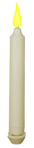 Xodus Innovations  Ivory  None Scent Taper  Holiday Candles  9 in. H