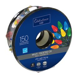 Celebrations  LED  C6  Multi  150 count Light Set  37 ft.
