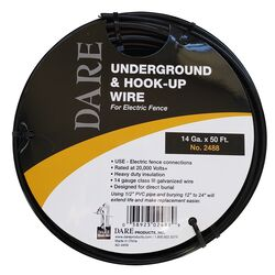 Dare Products  Electric Fence Underground And Hook-Up Wire  Black