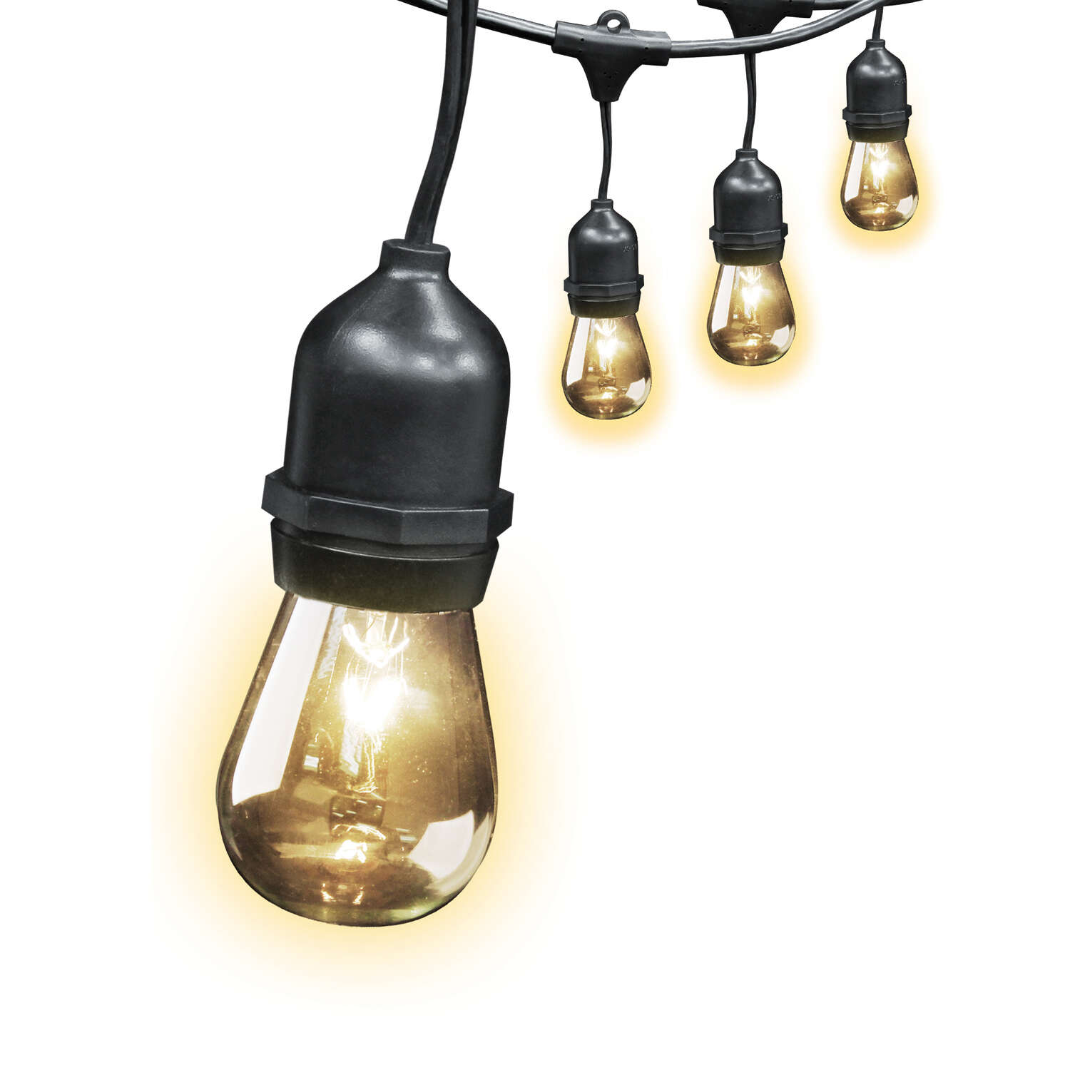FEIT Electric  Incandescent  String Light Set  Clear  240 in. 10 lights