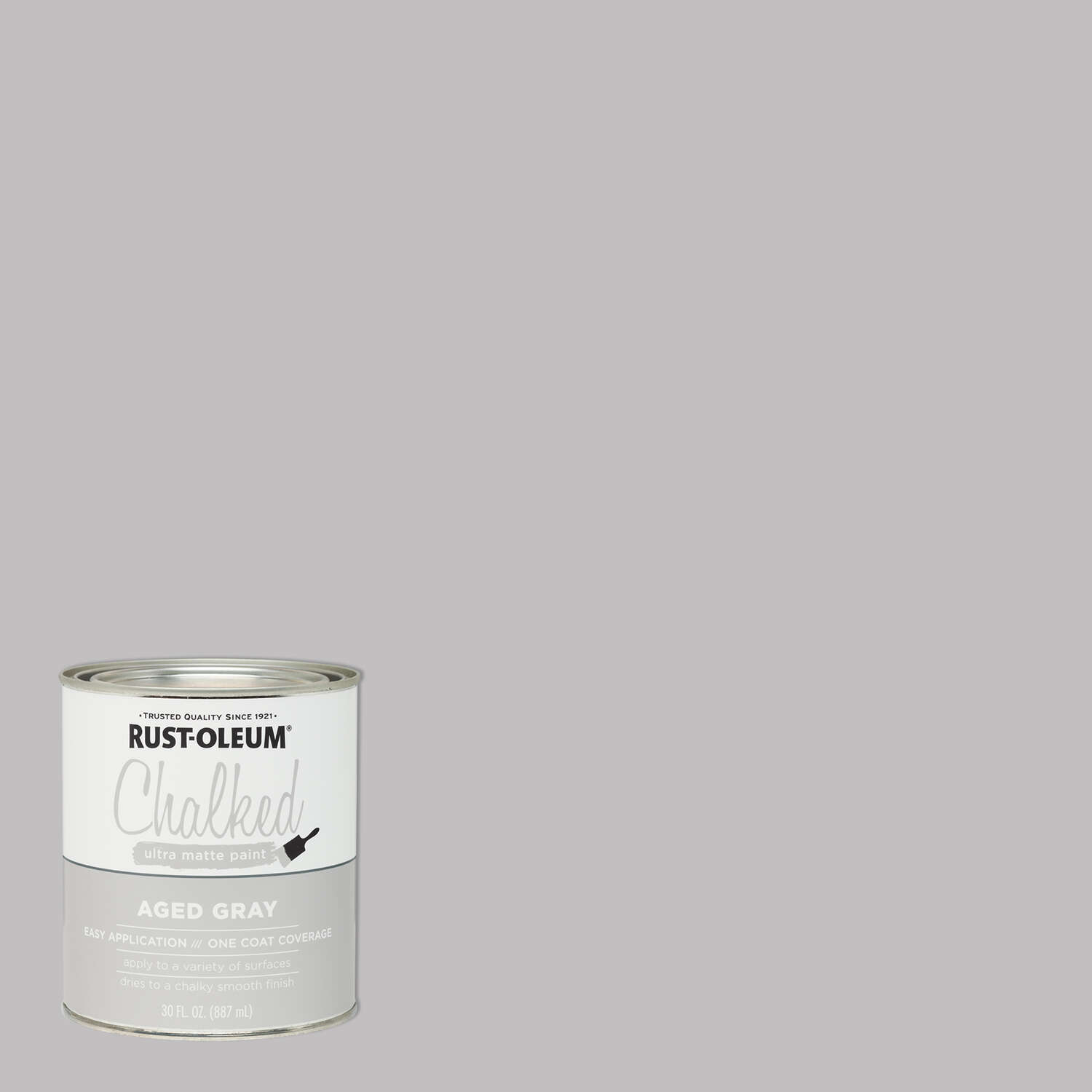 Rust-Oleum  Chalked  Ultra Matte  Aged Gray  Water-Based  Acrylic  Chalk Paint  30 oz.