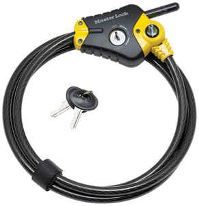 Master Lock  Python  3/8 in. Dia. x 72 in. L Vinyl Coated Steel  Locking Cable