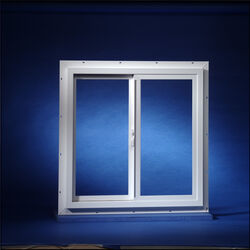 Duo-Corp  Agriclass Double Slide Vinyl Insulated Utility Window  White  Glass/Vinyl  Window  35-1/2