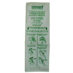 Bissell  BigGreen Commercial  Vacuum Bag  For Replacement Filter Bag 10 pk