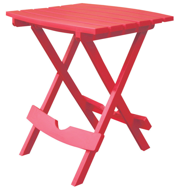Adams  QuikFold  Red  Classic Adirondack  Polypropylene  Folding Side Table  Rectangular