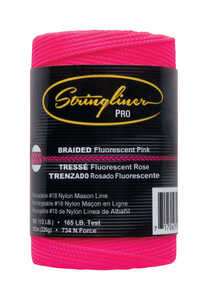 Stringliner  Pink  500 ft. Braided  Chalk Line Refill