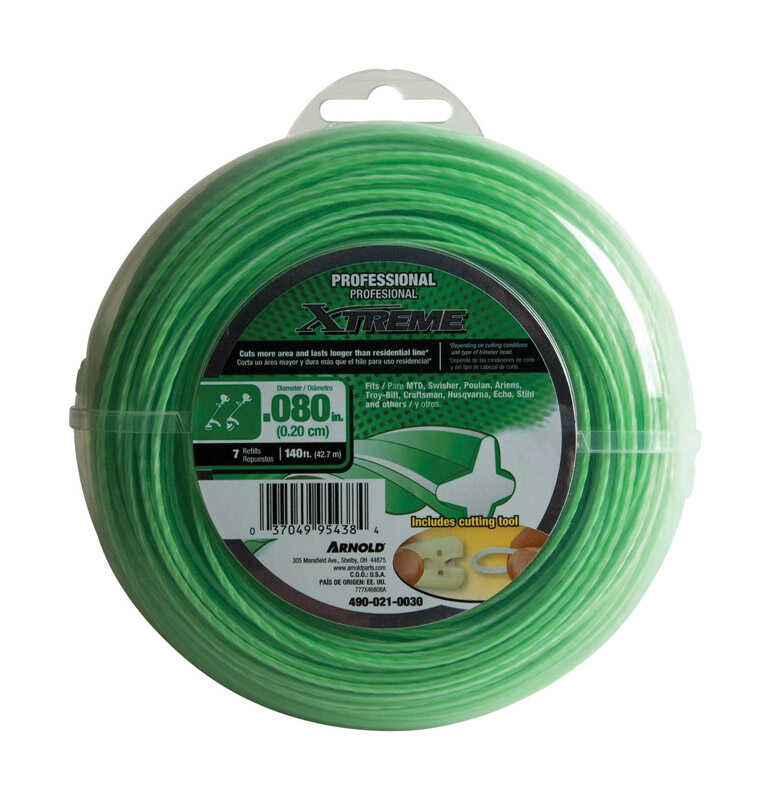 Arnold  Xtreme  Professional Grade  0.080 in. Dia. x 140 ft. L Trimmer Line