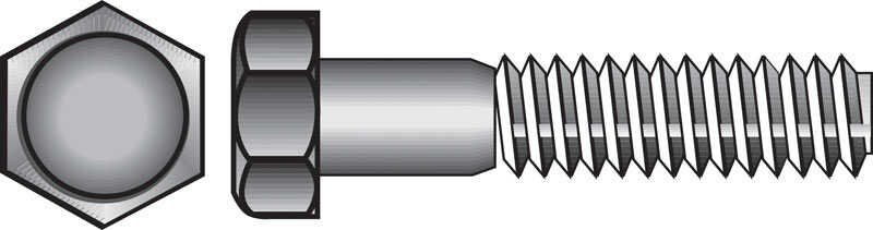 HILLMAN  3/8-16 in. Dia. x 1-1/4 in. L Stainless Steel  Hex Head Cap Screw  50 pk