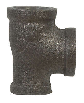 BK Products  3/4 in. FPT   x 1/2 in. Dia. FPT  Black  Malleable Iron  Reducing Tee