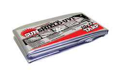 Dewitt Polytuf 12 ft. W x 10 ft. L Heavy Duty Fabric Tarp Black/Silver