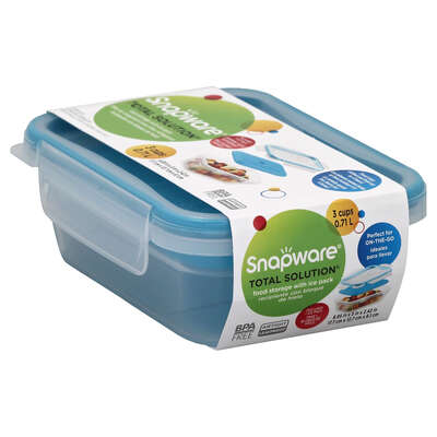 Snapware Total Solution 3 cup Clear Food Storage Container 1 pk