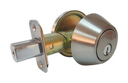 Faultless Satin Nickel Single Cylinder Deadbolt ANSI Grade 3 1-3/4 in in.