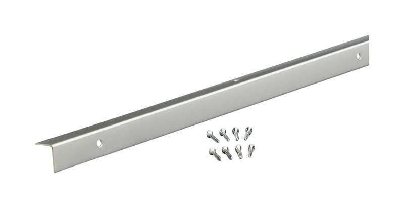 M-D Building Products  A772  96 in. L Prefinished  Silver  Moulding  Aluminum