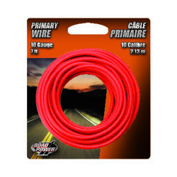 Coleman Cable  7 ft. 10 Ga. Primary Wire  Red