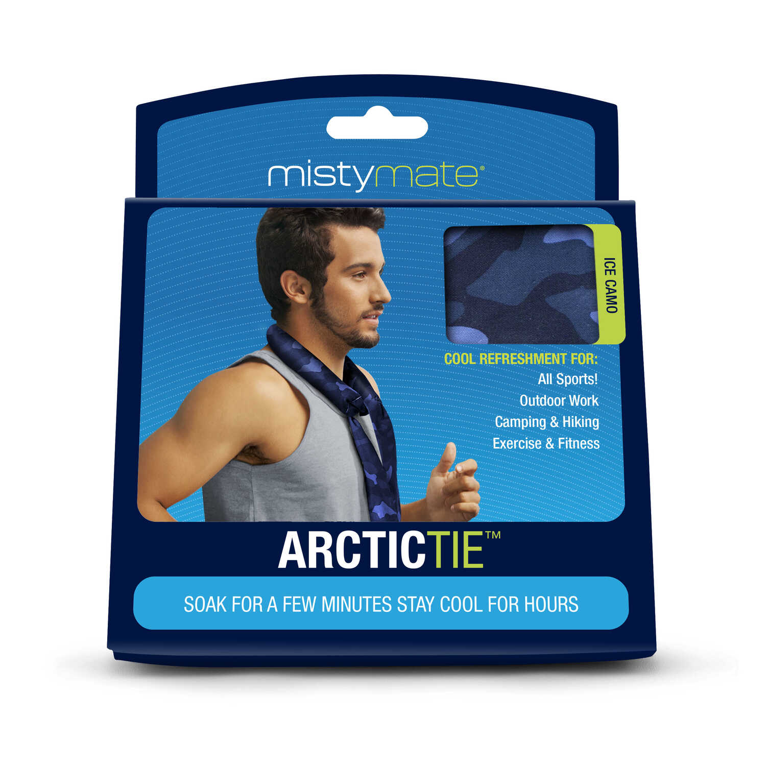 Misty Mate  Blue and Pink  Arctic Tie Cooling Neck Wrap  1 pk