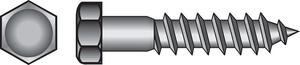 Hillman  3/8 in.  x 2-1/2 in. L Hex  Hot Dipped Galvanized  Steel  Lag Screw  50 pk