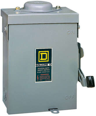 Square D  30 amps Plug In  2-Pole  Fuse Safety Switch