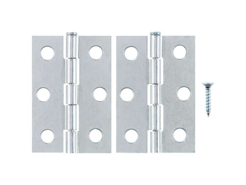 Ace  2-1/2 in. L Zinc-Plated  Narrow Hinge  2 pk