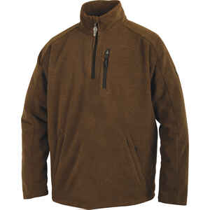 Drake  MST  L  Long Sleeve  Men's  Quarter Zip  Heathered Brown  Pullover
