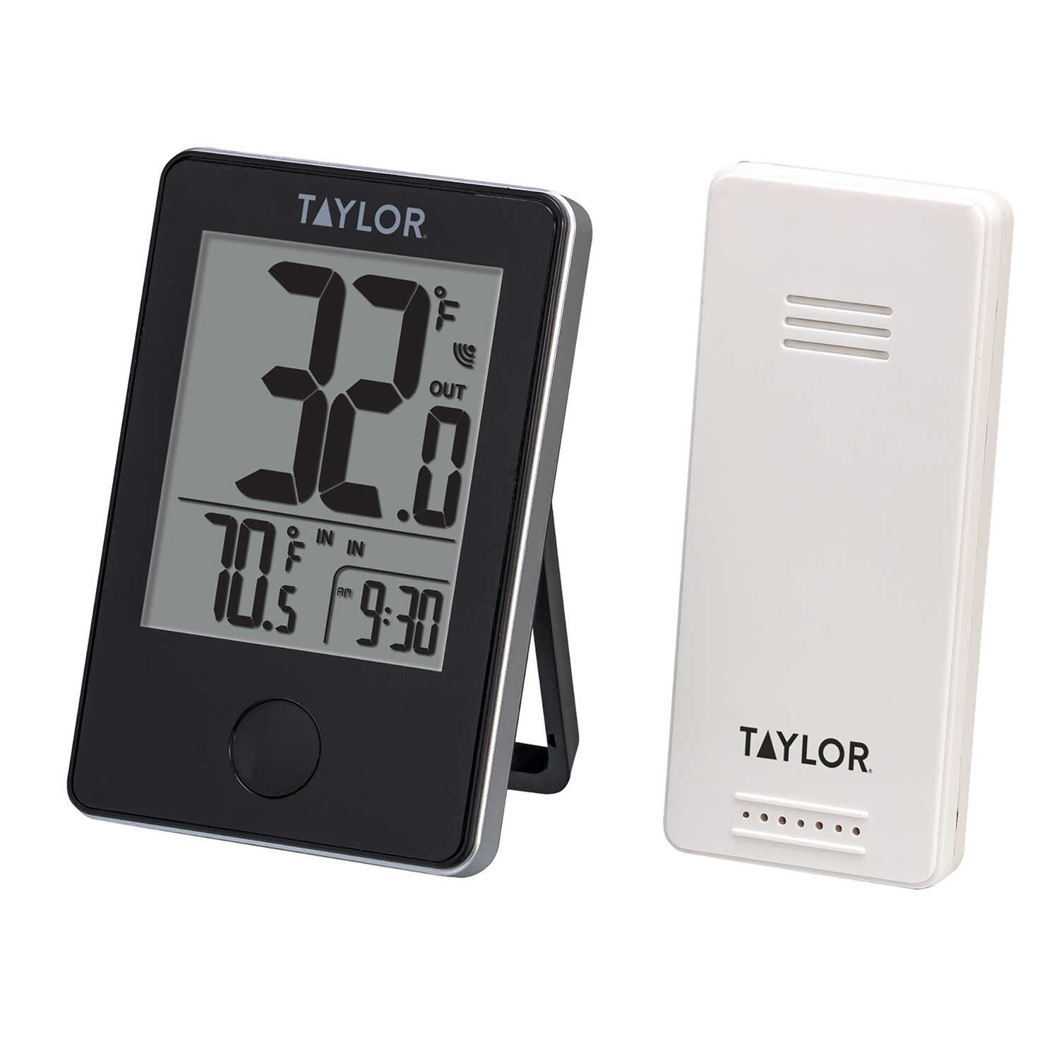 Taylor  Digital Thermometer  Plastic  Black