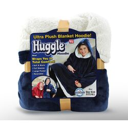Huggle Hoodie  As Seen On TV  One Size Fits All  Unisex  Blue  Hooded Sweatshirt