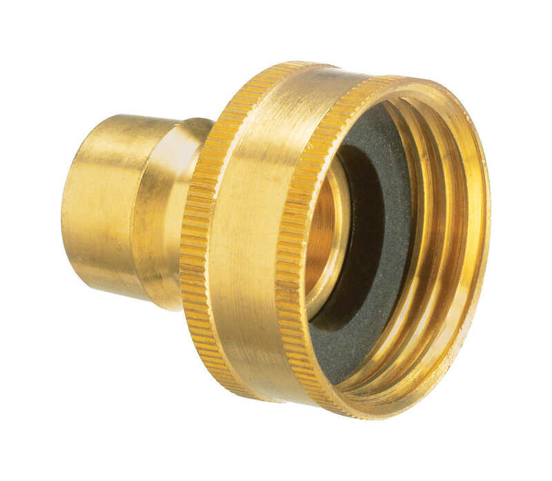 Plumb Pak  Brass  Hose Connector  3/4 in. Dia.
