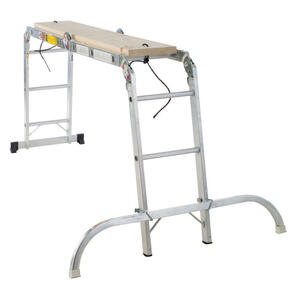 Werner  12 ft. H x 15 in. W Aluminum  Articulating Ladder  Type 1A  300 lb.