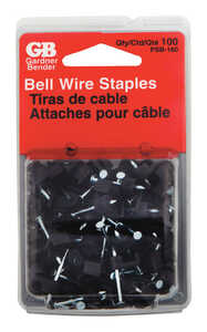 Gardner Bender  .5 in. W Plastic  Insulated Wire Staple  100 pk